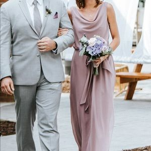 Long mauve dress